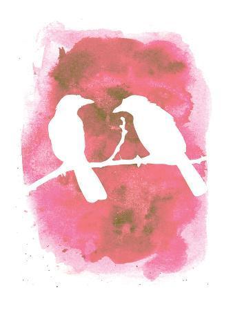 Pink Watercolor Birds