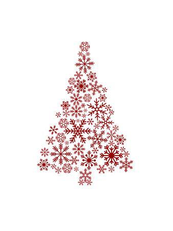 Red Snowflake Tree