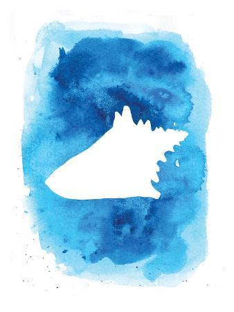Watercolor Blue Conch