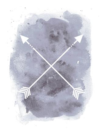 Watercolor Gray Background Arrow