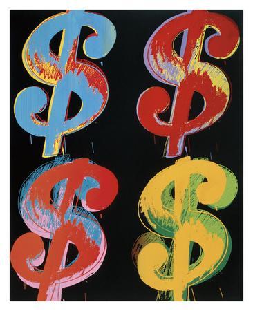 $4, 1982 (blue, red, orange, yellow)
