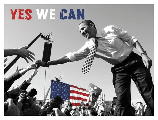 Barack Obama Yes We Can Crowd Posters Celebrity Photography Allposters Com