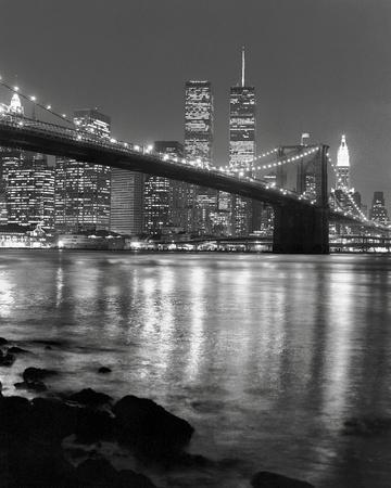Brooklyn Bridge with World Trade Center