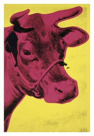Cow, 1966 (yellow & pink)