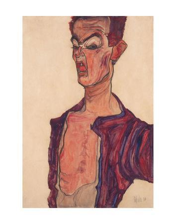 Self-Portrait, Grimacing