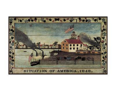 Situation of America, 1848