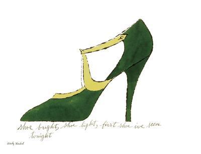Shoe bright, shoe light, first shoe I've seen tonight (from: A La Recherche du Shoe Perdu by Andy W