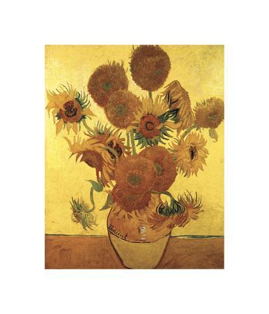 Sunflowers on Gold, 1888