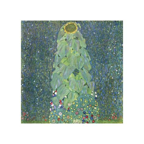 Gustav Klimt Sunflower Giclee Canvas Print  Poster Reproduction