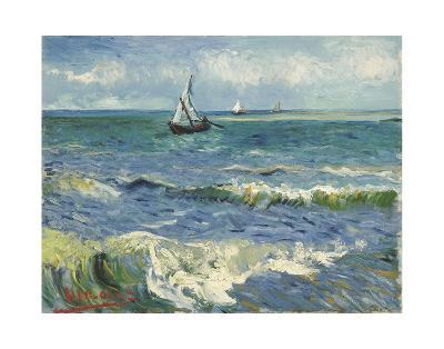 The Sea at Les Saintes-Maries-de-la-Mer, 1888