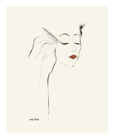 Untitled (Female Head and Hands Applying Eyeliner), c. 1955