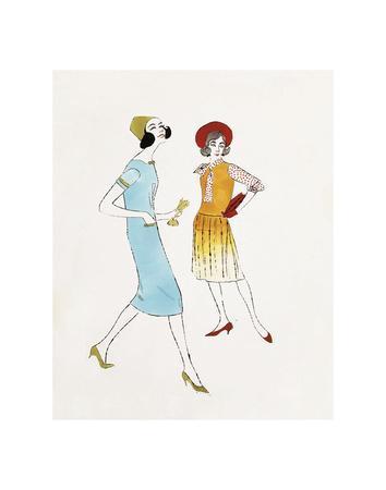 Two Female Fashion Figures, c. 1960