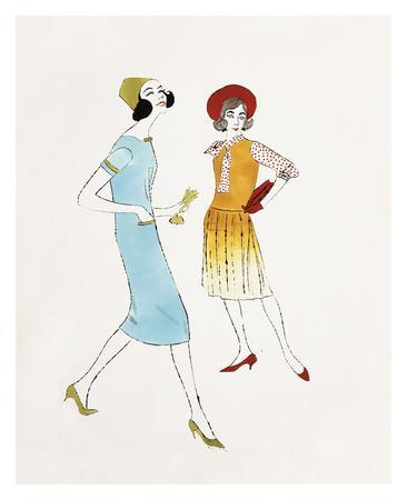 Two Female Fashion Figures, c. 1960