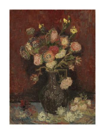 Vase with Chinese Asters and Gladioli, 1886