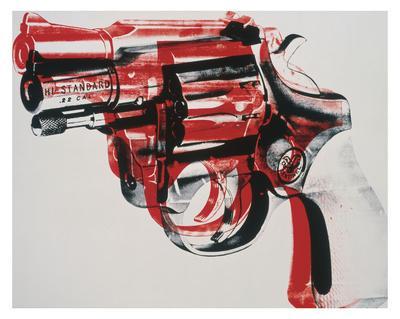 Gun, c. 1981-82 (black and red on white)