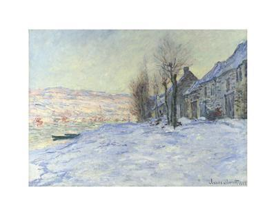 Lavacourt, under Snow, ca. 1878-1881