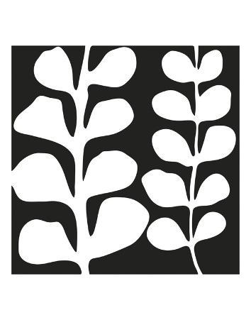 Maidenhair (white on black)