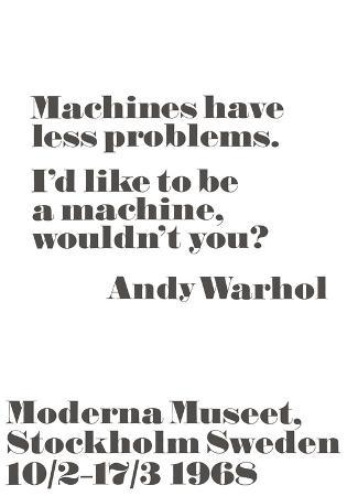 Machines have less problems.