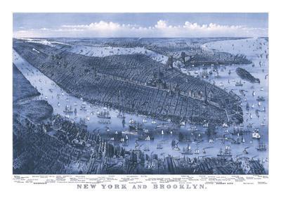 New York and Brooklyn, c. 1875