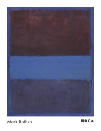 No. 61 (Rust and Blue) [Brown Blue, Brown on Blue], 1953