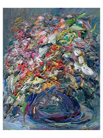 Abstract Oil Sgraffitopainting