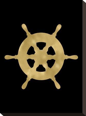 Ship Wheel Golden Black