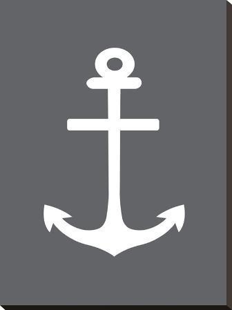Gray White Anchor