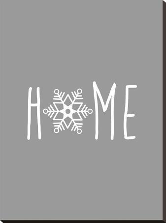 Gray White Home Snowflake