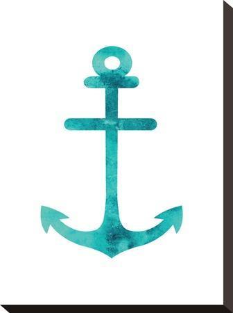Watercolor Aqua Anchor