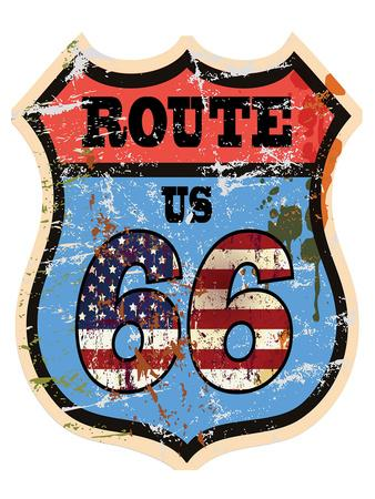 Vintage Route Us 66 Sign
