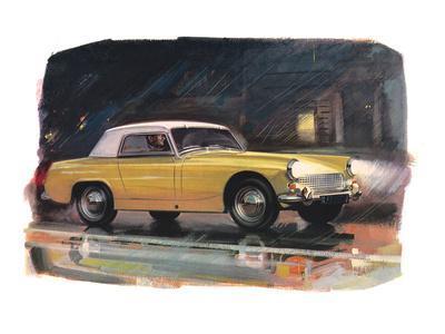 Yellow Austin Healy Sprite
