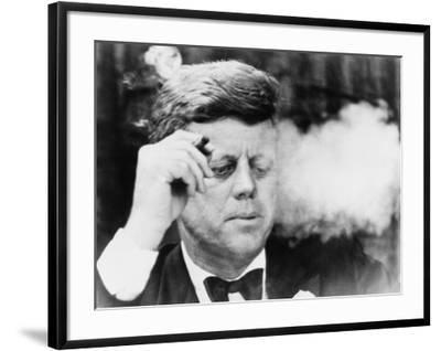 President John Kennedy, Smoking a Cigar at a Democratic Fundraiser, Oct. 19, 1963