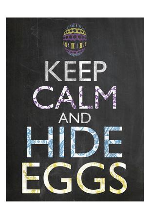 Keep Calm Easter Chalk