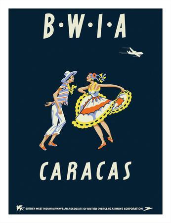 Caracas, Venezuela - British West Indies Airways BWIA