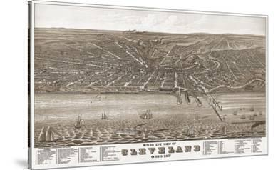 Bird's Eye View of Cleveland, Ohio, 1877
