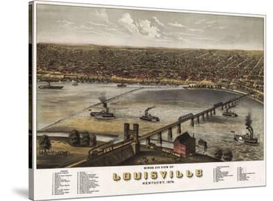 Bird's Eye View of Louisville, Kentucky, 1876