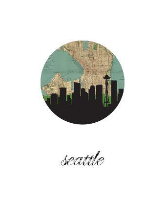 Seattle Map Skyline