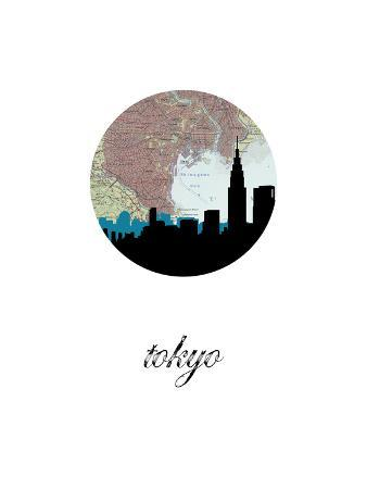 Tokyo Map Skyline