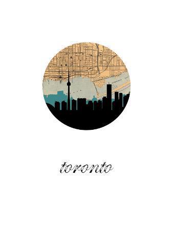Toronto Map Skyline