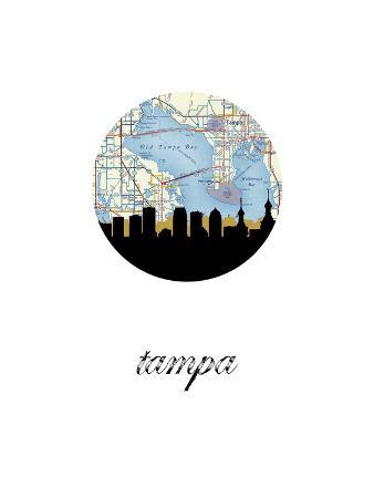 Tampa Map Skyline
