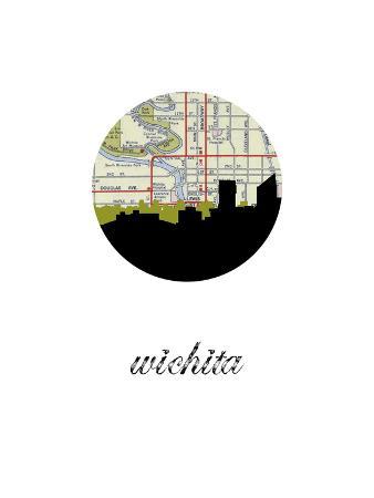 Wichita Map Skyline