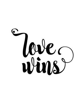 Love Wins Cursive