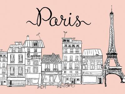 Paris on Pink