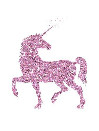 Pink Glitter Unicorn Print by Peach & Gold at AllPosters.com