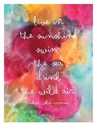 Live In The Sunshine Watercolor