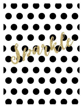 Sparkle Gold Glitter Dots