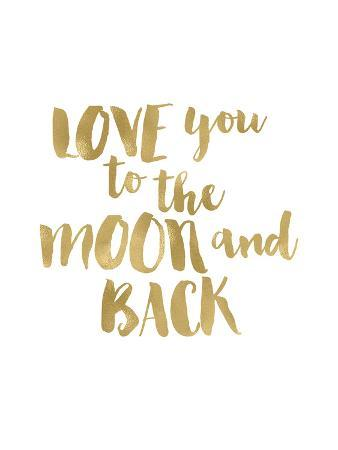 Love You To Moon Back Gold White