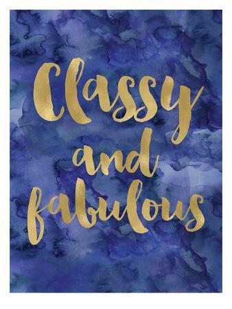 Classy Fabulous Gold Blue Watecolor