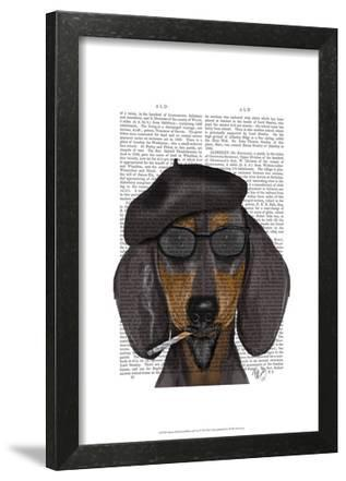 Hipster Dachshund Black and Tan