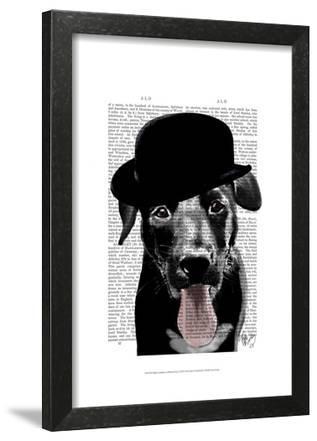 Black Labrador in Bowler Hat
